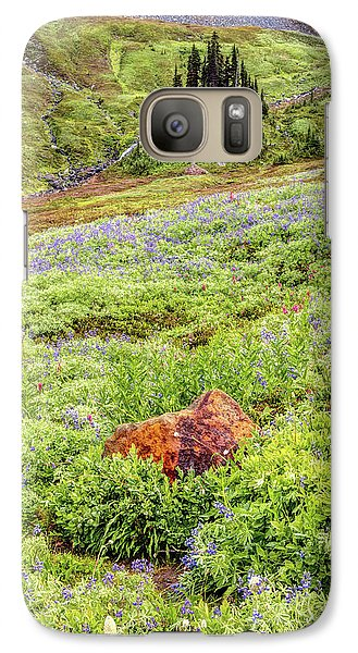 Galaxy Case featuring the photograph Red Rock Of Rainier by Pierre Leclerc Photography
