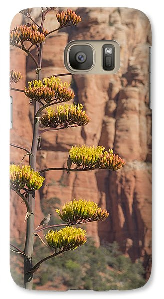 Galaxy Case featuring the photograph Red Rocks And Century Plant by Laura Pratt