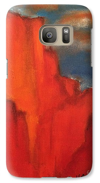 Galaxy Case featuring the painting Red Rocks by Kim Nelson
