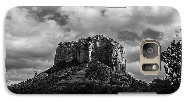 Galaxy Case featuring the photograph Red Rocks Sedona Bnw 1 by David Haskett