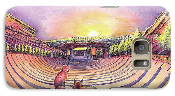 Galaxy Case featuring the painting Red Rocks Sunrise by David Sockrider