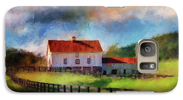 Galaxy Case featuring the digital art Red Roof Barn by Lois Bryan