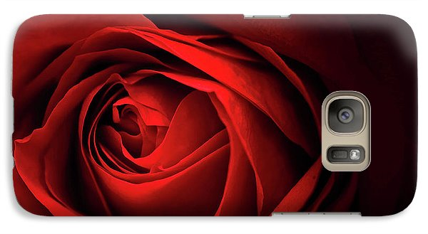 Galaxy Case featuring the photograph Red Rose Close by Charline Xia