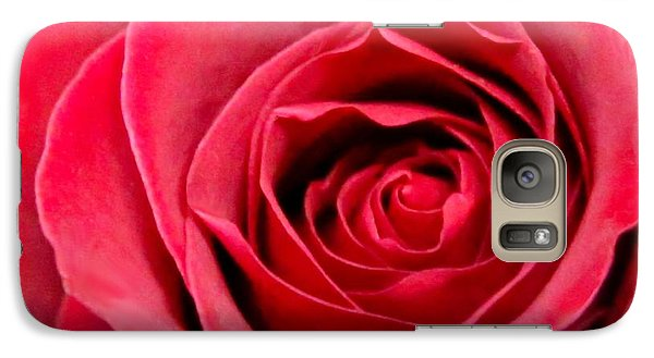 Galaxy Case featuring the photograph Red Rose by DJ Florek