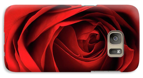 Galaxy Case featuring the photograph Red Rose Flower by Charline Xia