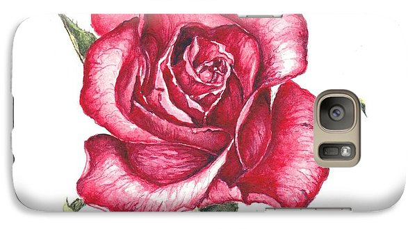 Galaxy Case featuring the painting Red Rose by Heidi Kriel