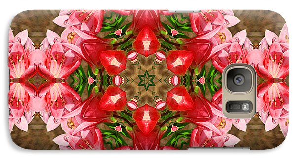 Galaxy S7 Case featuring the photograph Red Rose Kaleidoscope by Bill Barber