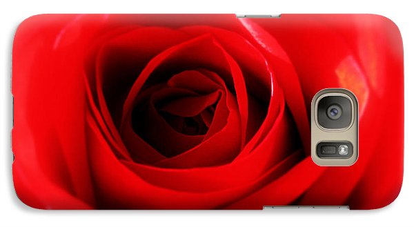 Galaxy Case featuring the photograph Red Rose by Nina Ficur Feenan