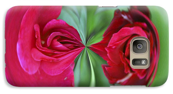 Galaxy S7 Case featuring the photograph Red Rose Orb by Bill Barber