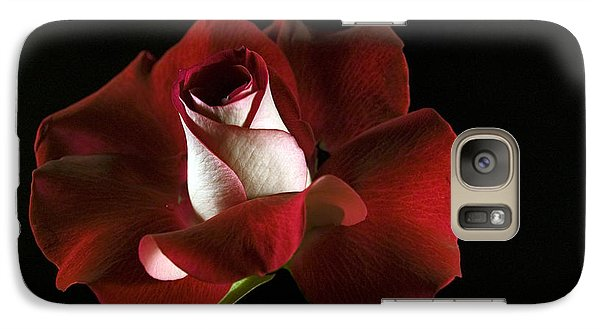 Galaxy Case featuring the photograph Red Rose Petals by Elsa Marie Santoro