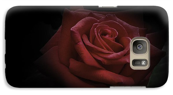 Galaxy Case featuring the photograph Red Rose by Ryan Photography