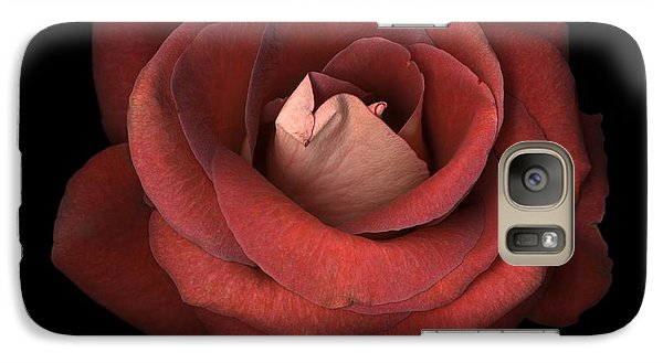 Galaxy Case featuring the photograph Red Rose by Test