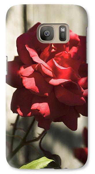 Red Rose Galaxy S7 Case by Yulia Kazansky