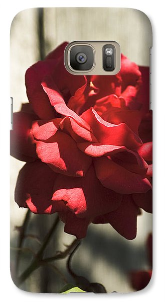 Galaxy Case featuring the photograph Red Rose by Yulia Kazansky