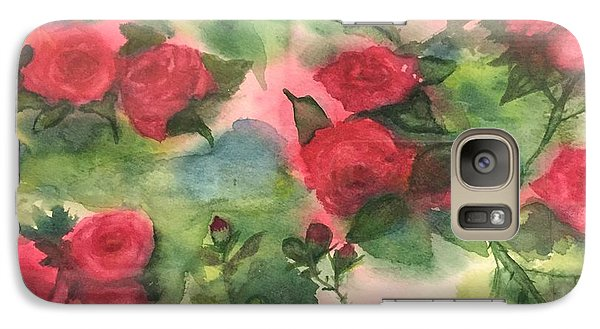 Galaxy Case featuring the painting Red Roses by Lucia Grilletto