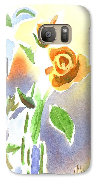 Galaxy Case featuring the painting Red Roses With Holly In A Vase by Kip DeVore