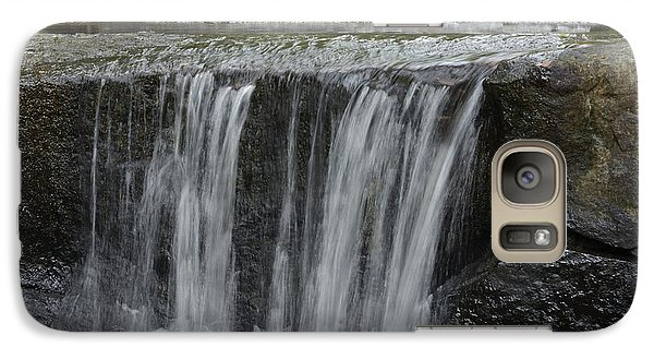 Galaxy Case featuring the photograph Red Run Waterfall by Randy Bodkins