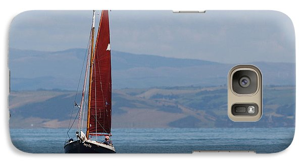 Galaxy Case featuring the photograph Red Sail by Richard Patmore