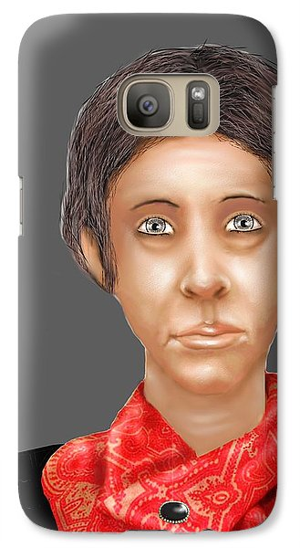 Galaxy Case featuring the digital art Red Scarf by Kerry Beverly
