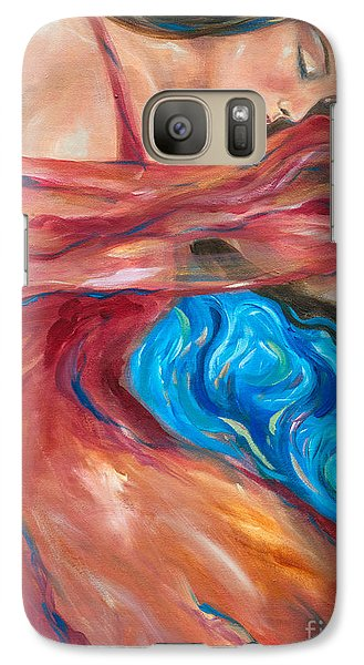 Galaxy Case featuring the painting Red Scarf by Linda Olsen