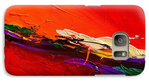 Galaxy Case featuring the painting Red Sensations by Elise Palmigiani