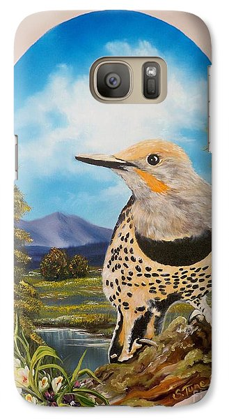 Galaxy Case featuring the painting Red Shafted Flicker by Sigrid Tune