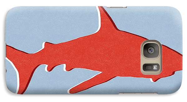 Nurse Shark Galaxy S7 Case - Red Shark by Linda Woods