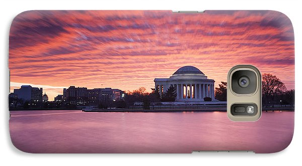Galaxy Case featuring the photograph Red Skies At Dawn by Edward Kreis