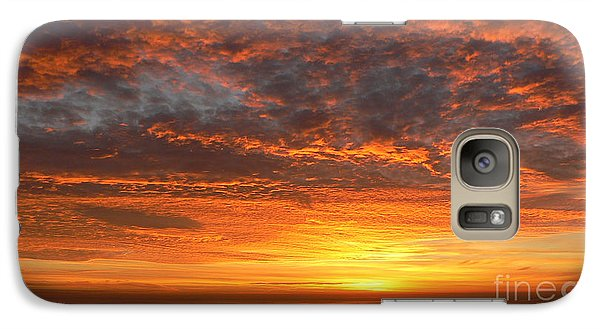 Galaxy Case featuring the photograph Red Skies At Night by Larry Keahey