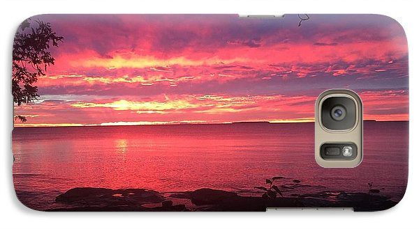 Galaxy Case featuring the photograph Red Sky At Night by Paula Brown