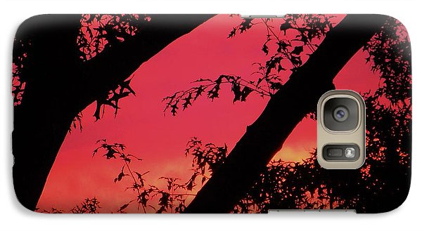 Galaxy Case featuring the photograph Red Sky by Susan Carella