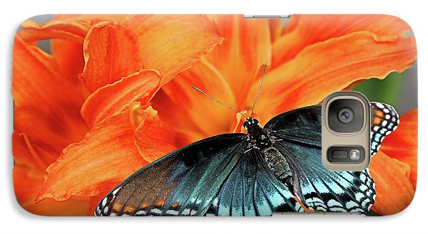 Galaxy Case featuring the photograph Red Spotted Fritillary by Kristin Elmquist
