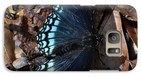 Galaxy Case featuring the photograph Red Spotted Purple Admiral by Skip Willits