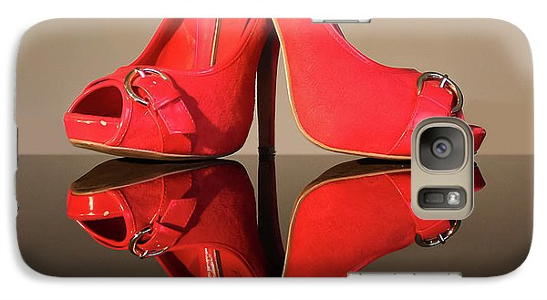 Galaxy Case featuring the photograph Red Stiletto Shoes by Terri Waters