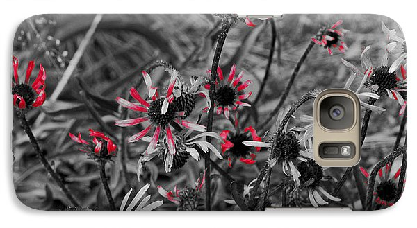 Galaxy Case featuring the photograph Red Streaks by Deborah  Crew-Johnson