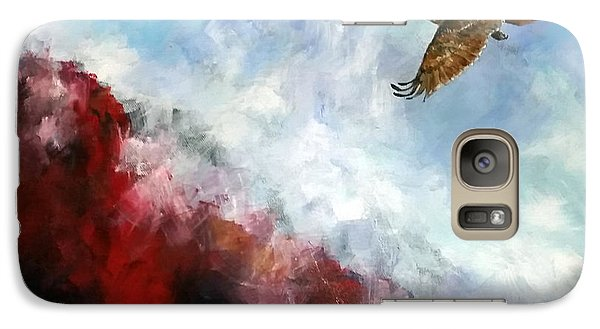 Galaxy Case featuring the painting Red Tail by David  Maynard