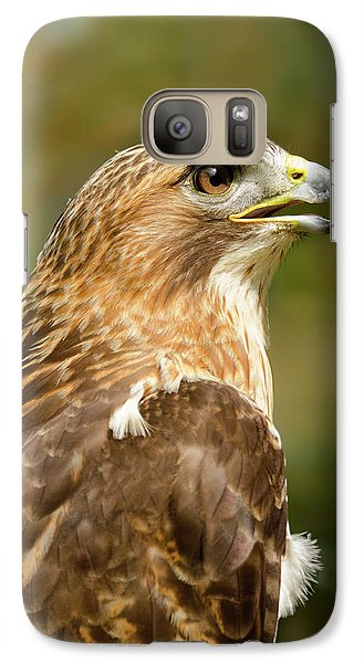 Galaxy Case featuring the photograph Red-tailed Hawk Close-up by Ann Bridges