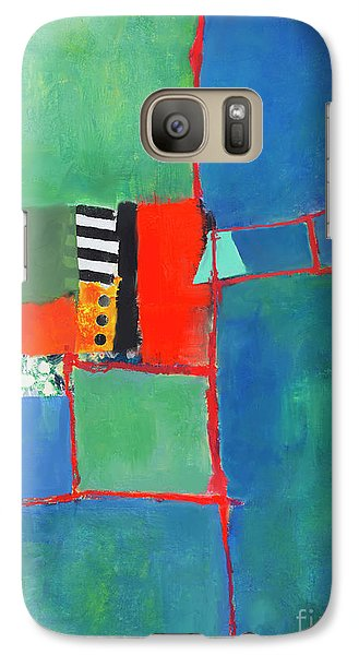 Galaxy Case featuring the mixed media Red Thread by Elena Nosyreva