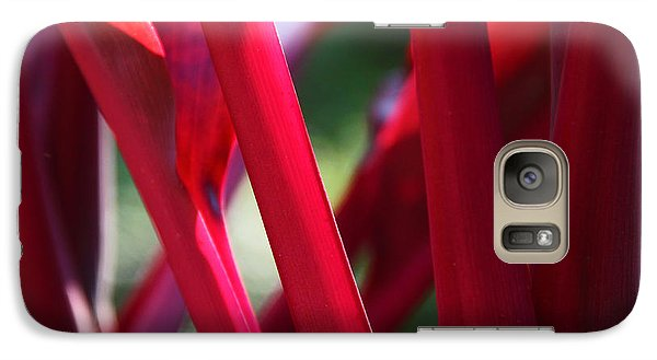 Galaxy Case featuring the photograph Red Ti  by Kerri Ligatich