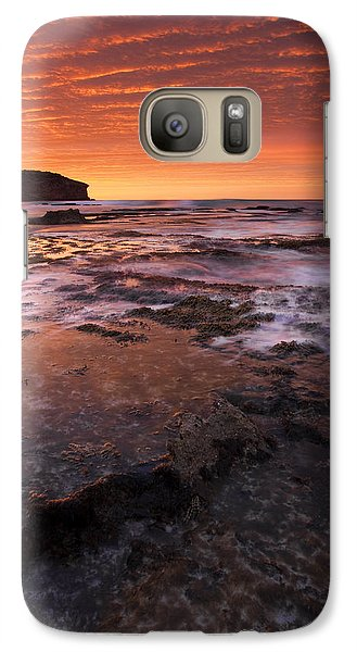 Kangaroo Galaxy S7 Case - Red Tides by Mike  Dawson