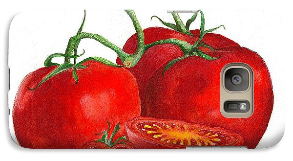 Galaxy Case featuring the painting Red Tomatoes by Nan Wright