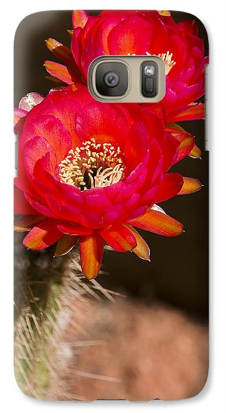 Galaxy Case featuring the photograph Red Tops by Laura Pratt