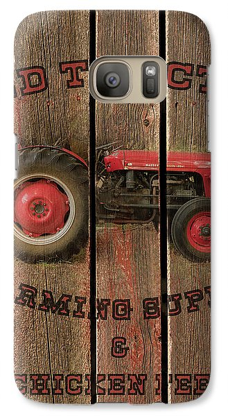 Red Tractor Farming Supply Galaxy S7 Case