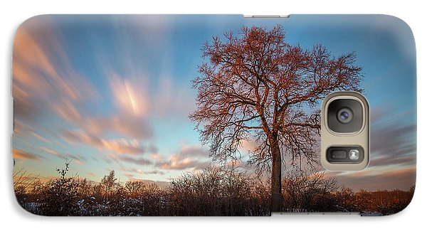 Galaxy Case featuring the photograph Red Tree by Davorin Mance