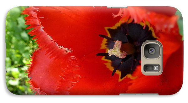 Galaxy Case featuring the photograph Red Tulip by Jean Bernard Roussilhe