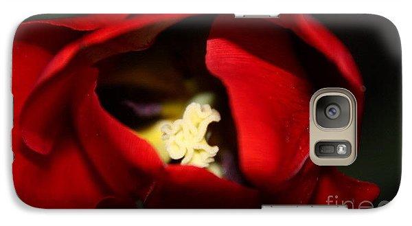 Galaxy Case featuring the photograph Red Tulip by Jolanta Anna Karolska