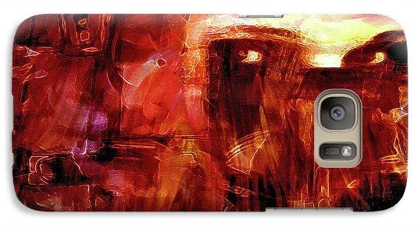 Galaxy Case featuring the photograph Red Veil by Linda Sannuti