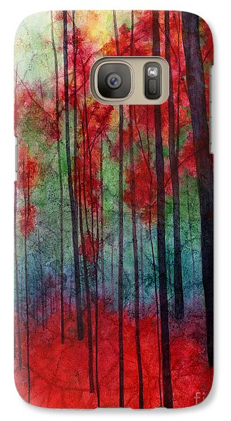 Galaxy Case featuring the painting Red Velvet by Hailey E Herrera