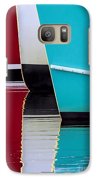 Galaxy Case featuring the photograph Red White Blue Reflections by Janice Drew