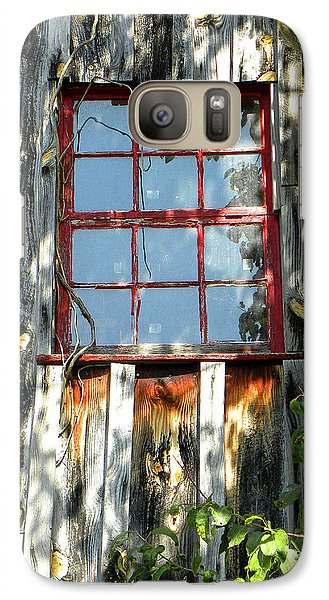 Galaxy Case featuring the photograph The Red Window by Sandi OReilly